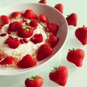 Porridge Erdbeeren